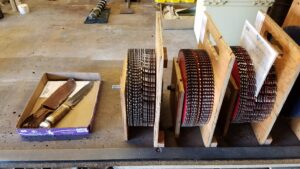 50 plus Saw blades for a customer.